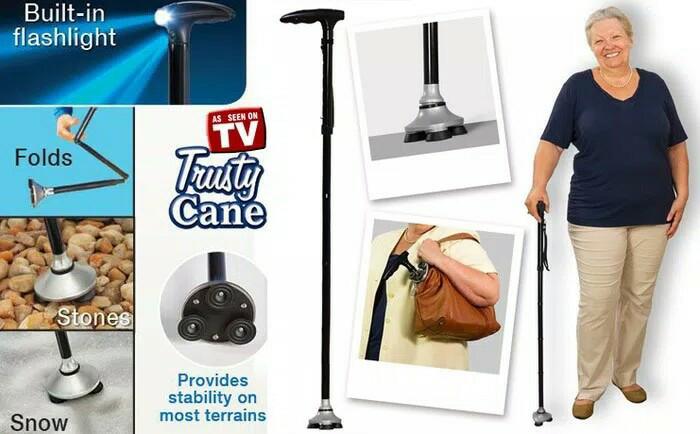 Foto Produk Trusty cane alat tongkat bantu jalan manula lipat lampu led dari Sandy Toys