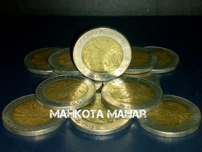 harga Uang Kuno Lama Mahar Koin 1000 Kelapa Sawit Tokopedia.com