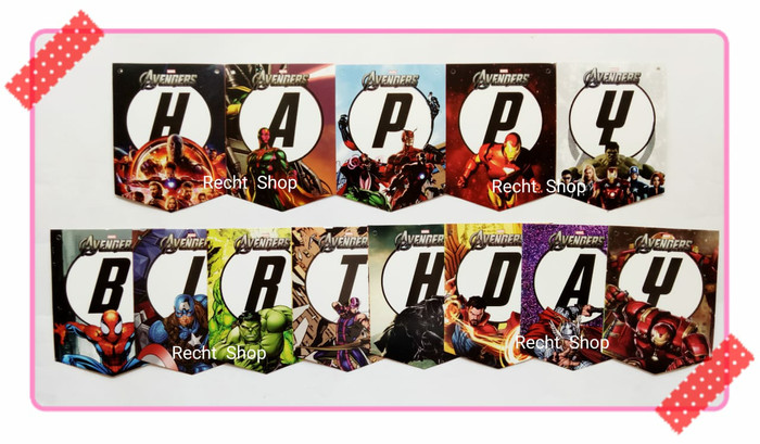 harga Banner bunting flag ulang tahun karakter avengers infinity wars Tokopedia.com