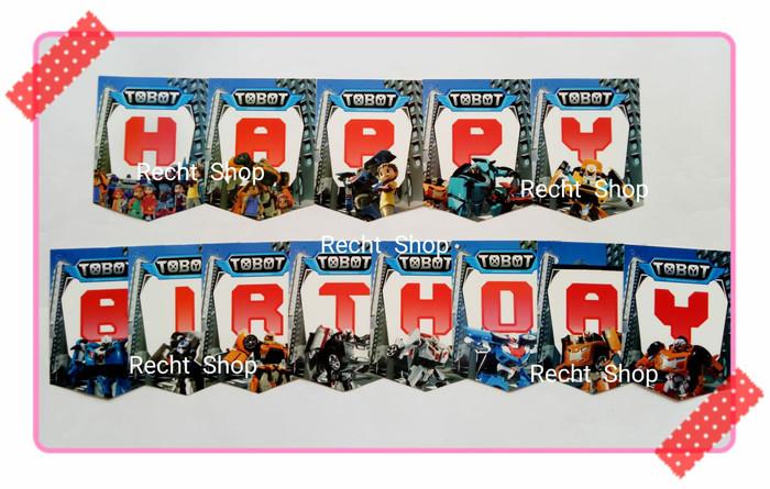 harga Banner bunting flag ulang tahun karakter tobot Tokopedia.com