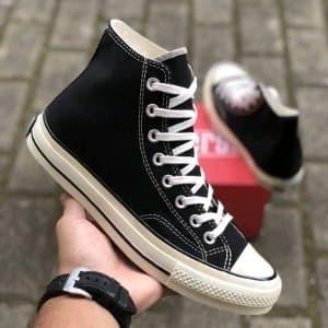 Jual Sepatu Converse All Star CT Chuck Taylor 70s High Black Paling ... 91ca809ae5