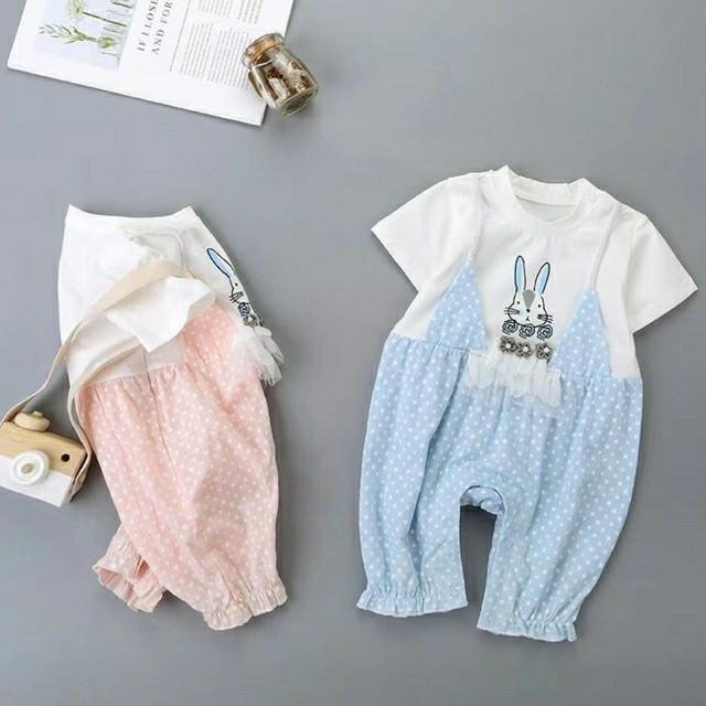85e2d26bf Jual GIRL jumpsuit anak cewek - Polka Rabbit - Little DIno | Tokopedia