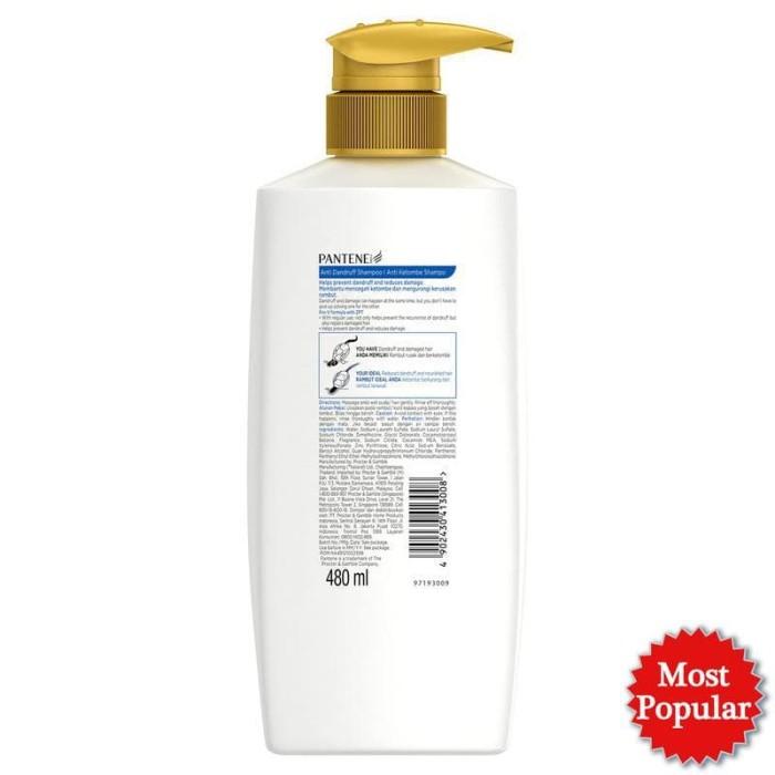 Pantene Shampoo Anti Dandruff 480ml Paket Isi 3