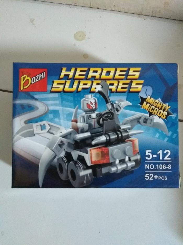 Jual Lego Kw Bozhi Series Mini Super Hero With Vehicle Kota