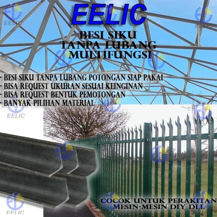 EELIC BES-30X30X3MM -100CM Besi Siku Tanpa Lubang Multifungsi Tebal 3.