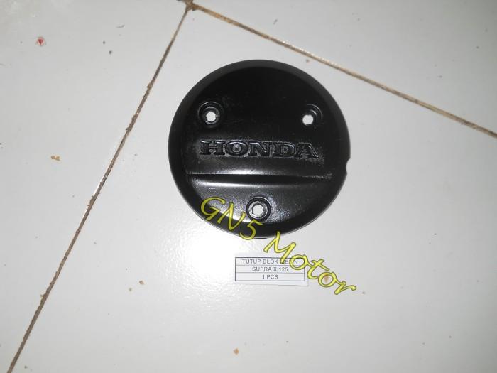... harga Tutup blok kopling supra x 125 hitam / cover mesin protetor Tokopedia.com