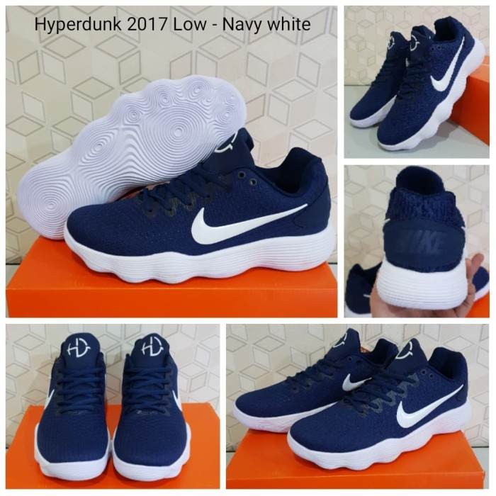 86a0e2730358 Review Sepatu Basket Nike Hyperdunk 17 Low Navy Blue White Di ...