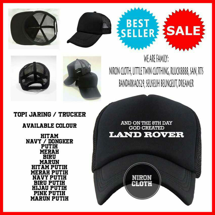 654ca337271 Jual TOPI TRUCKER AND ON THE 8TH DAY GOD CREATED LAND ROVER - OUTFIT ...