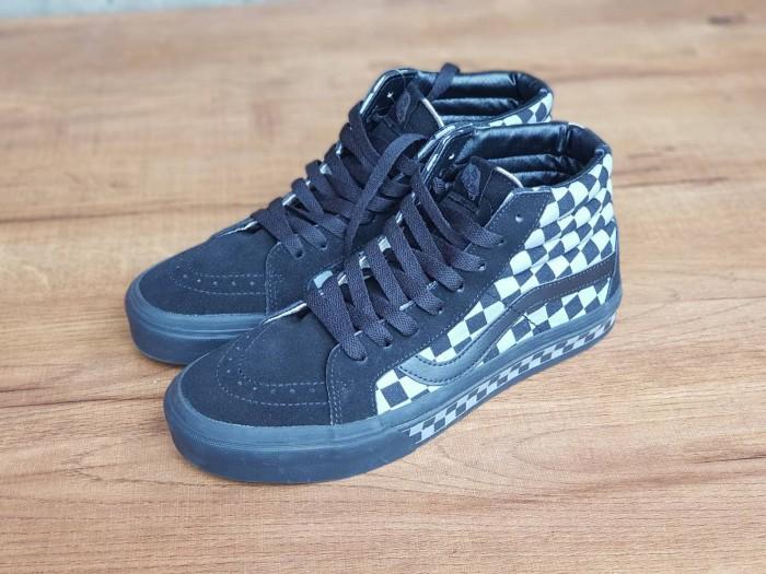 Jual Sepatu Vans Sk8-Hi Checkerboard Black Grey Premium Waffle DT ... afadbf51d4