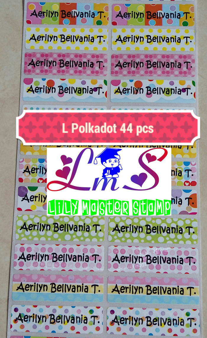 Stiker Bulat Polos Nangguk Sticker Hello Kitty A Cutting Label Nama Source Jual Waterproof Polka Dot Titik Lily