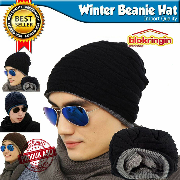 ... harga Topi kupluk rajut import   musim dingin   winter hat   beanie hat  Tokopedia. 6c79d7e16d