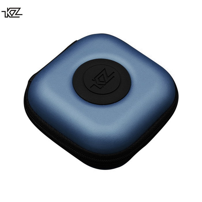 Foto Produk Knowledge Zenith Earphone Hard Case PU - Biru dari Knowledge Zenith Store