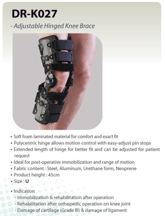 23bb91c22e Jual PROMO! DR. MED K027 - KNEE BRACE DIAL LOCK HINGED ONE SIZE FIT ...