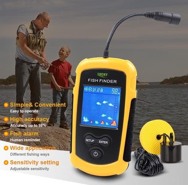 Foto Produk Fish Finder Lucky Color FFC1108 Pencari Ikan Sonar Sensor FFC1108-1 dari HRDIK