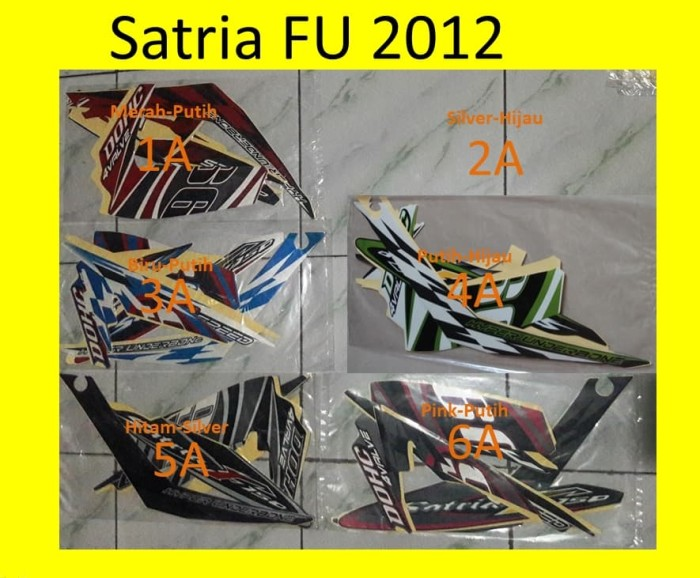 harga Stiker / lis / striping / stripping motor yamaha satria fu 2012 Tokopedia.com