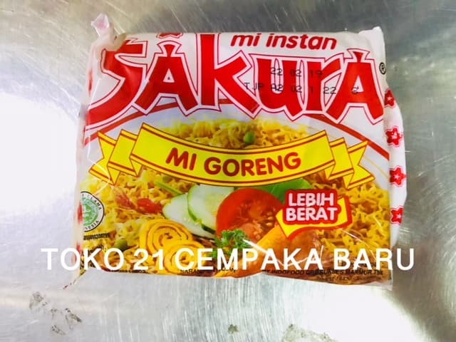 Mi Sakura Rasa Mie Goreng 1 BUNGKUS | Mi Instant Kuning Sakura Promo