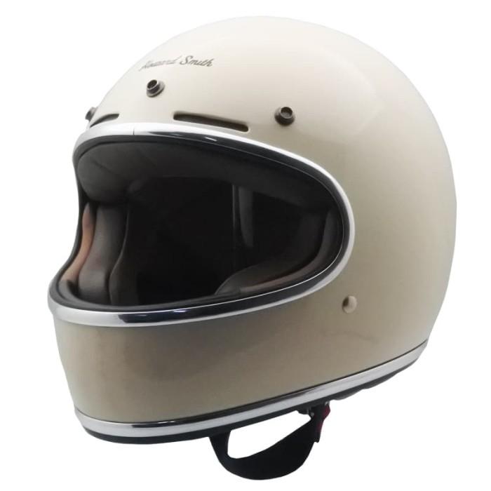 harga Cargloss howard smith cafe racer helm full face - avorio naide - beige size l Tokopedia.com