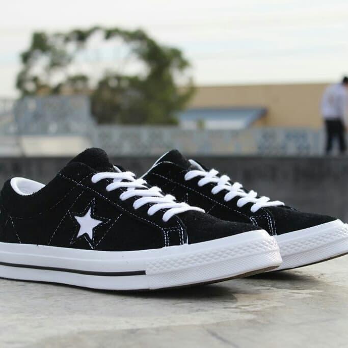 Jual Converse One Star Premium Suede Black White Ox - DKI Jakarta ... 54d5ddfab
