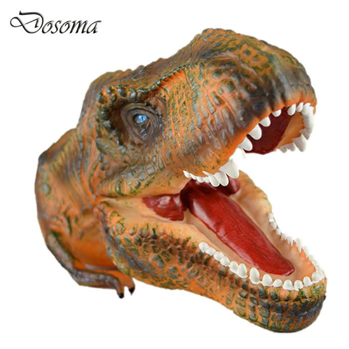 jual hand puppet world jurassic head of tyrannosaurus trex