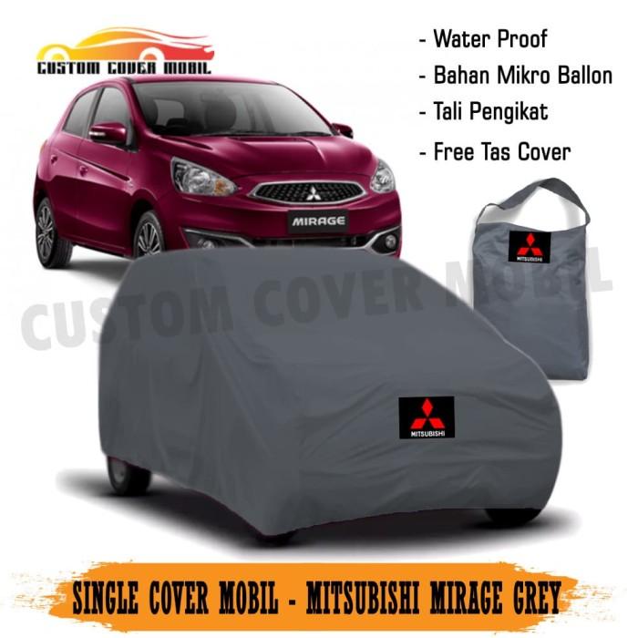 Cover/Selimut Mobil City Car Mitsubishi Mirage Polos 1 Layer - Hitam