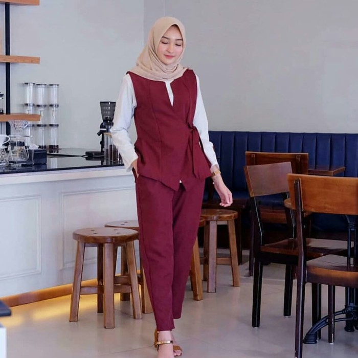 Jual Baju Setelan Muslim Busana Muslim Wanita Celana Wanita Atasan Wanita Kota Bandung Risky Olshop Tokopedia