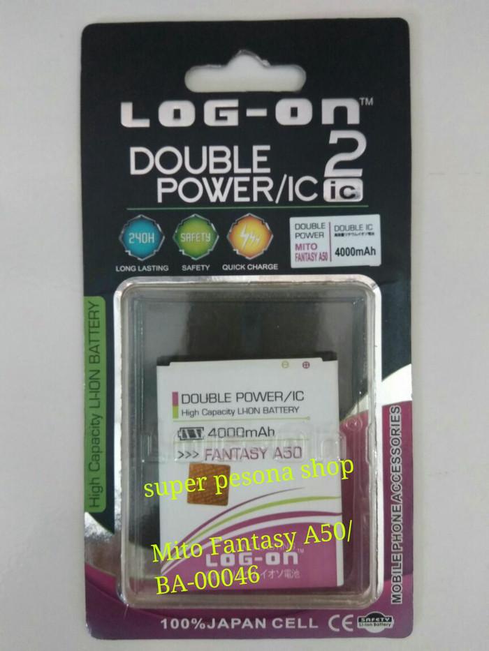 Baterai Double Power Batre Mito Fantasy A50/BA00046 .