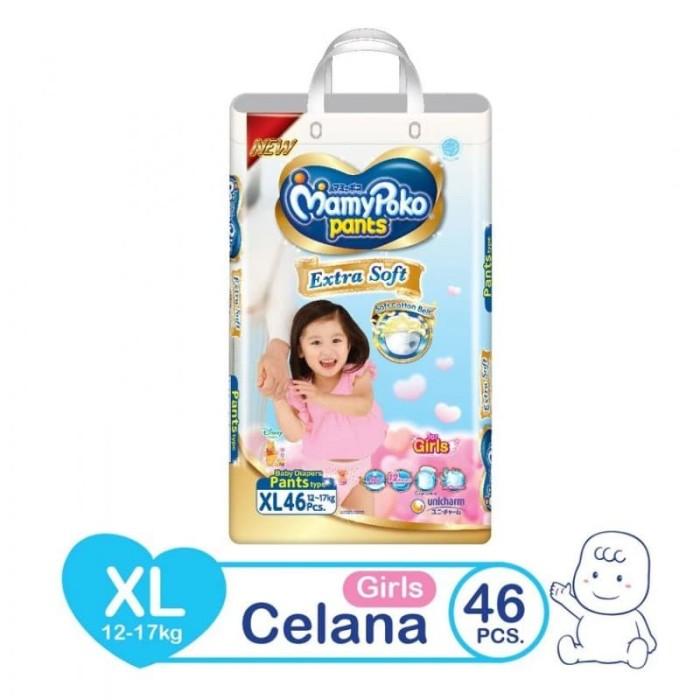 Mamypoko Pants Extra Soft XL Girl 46 Popok Celana