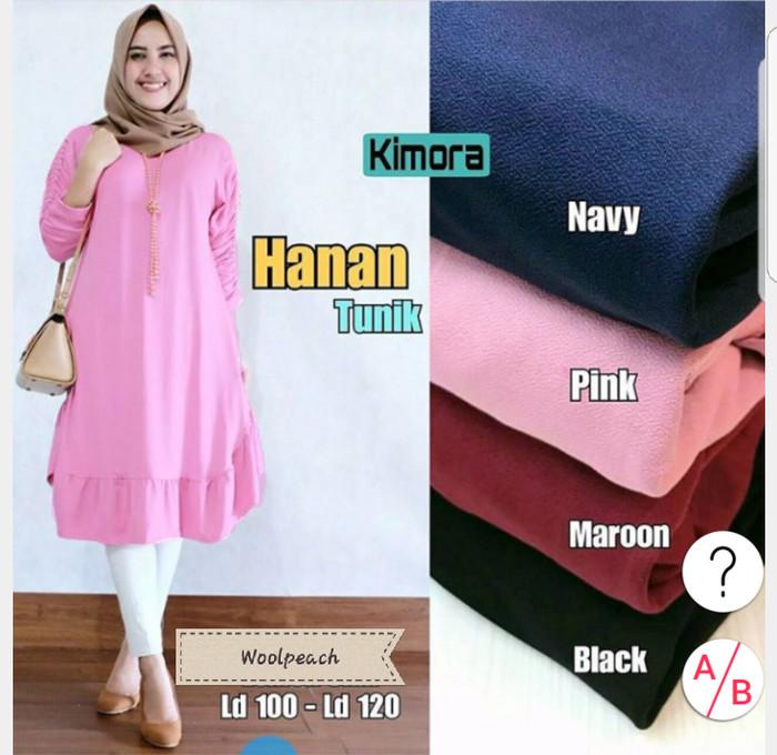 dff99b121074f5 Jual Baju Atasan Wanita Hanan Tunik Blouse Baju Muslim Blus Muslim ...