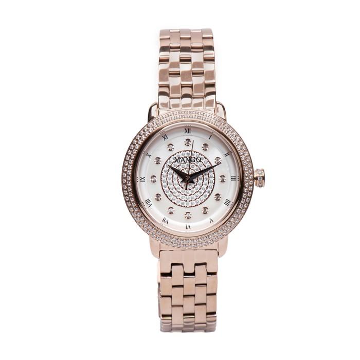 mango jam tangan wanita ma6665l-80r rose gold