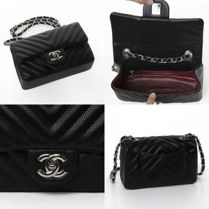 168e9a27c003 Jual SELL TC Tas Chanel Classic Chevron Caviar Quilted Seprem Box 20 ...