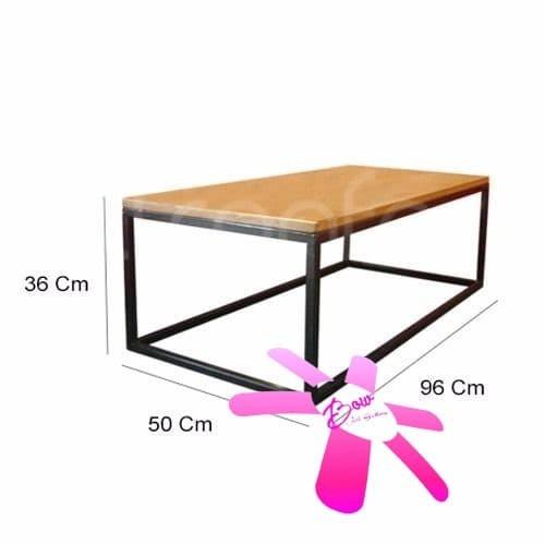 Beli Meja Tamu Coffee Table Industrial Minimalis Mi013 Putih Harga Rp 530.000