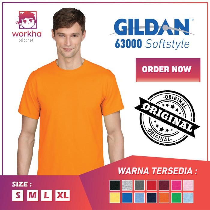 Kaos Polos Gildan Bandung Softstyle 63000 - Original - READY STOCK