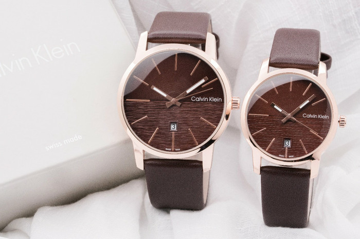 harga Jam tangan couple ck leather / kulit brown Tokopedia.com