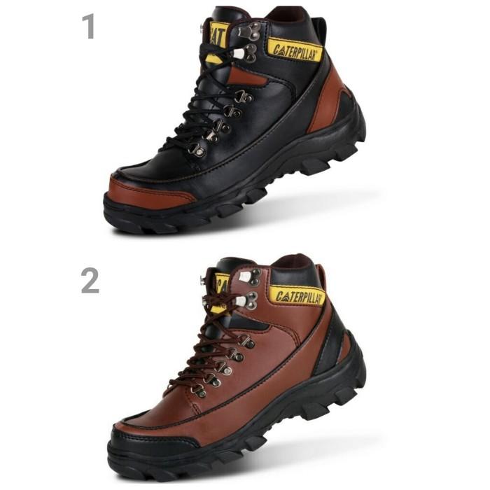 Sepatu Pria Boots Safety Caterpillar CAT MBC Proyek Kerja Lapangan - Hitam 65060e5e80
