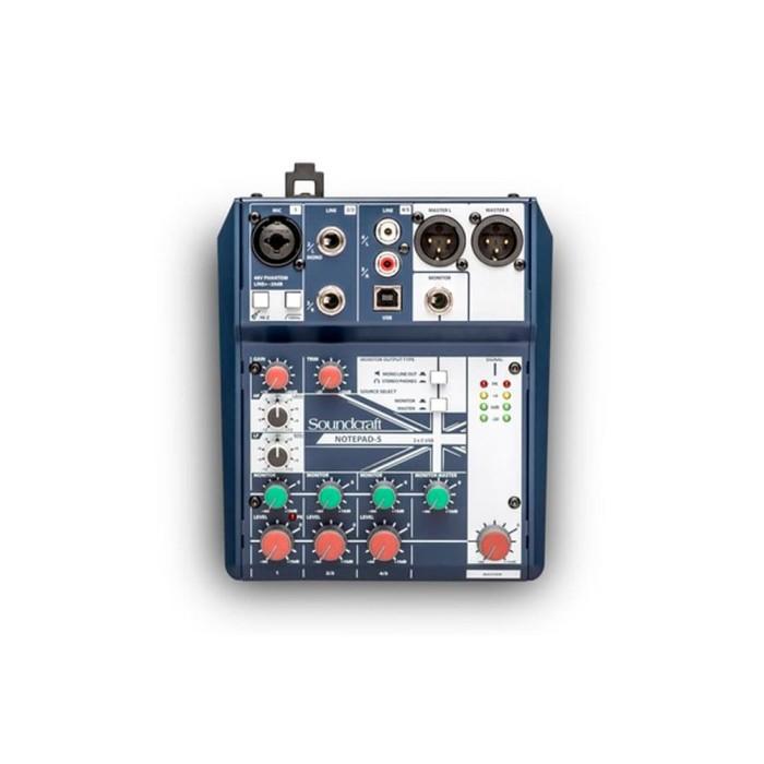 soundcraft notepad 5 mixer audio