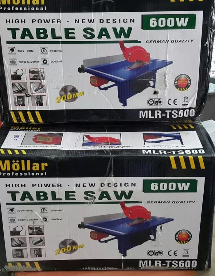 harga Table saw mollar - mesin gergaji meja mlr-ts600 mollar - table saw 8 Tokopedia.com
