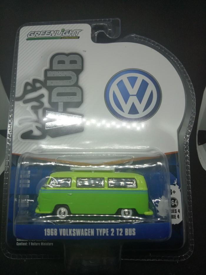 Greenlight Diecast Vdub Series 4 1968 Volkswagen Type 2 T2 Bus