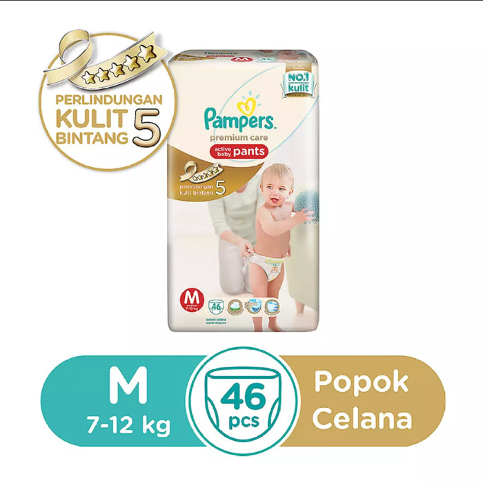 harga Pampers premium care pants popok celana uk. m-46 / m46 / m 46 pcs Tokopedia.com