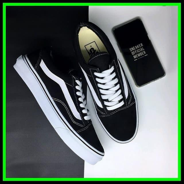 NEW Sepatu Vans Old Skool Classic Black and White DT BNIB Original pr