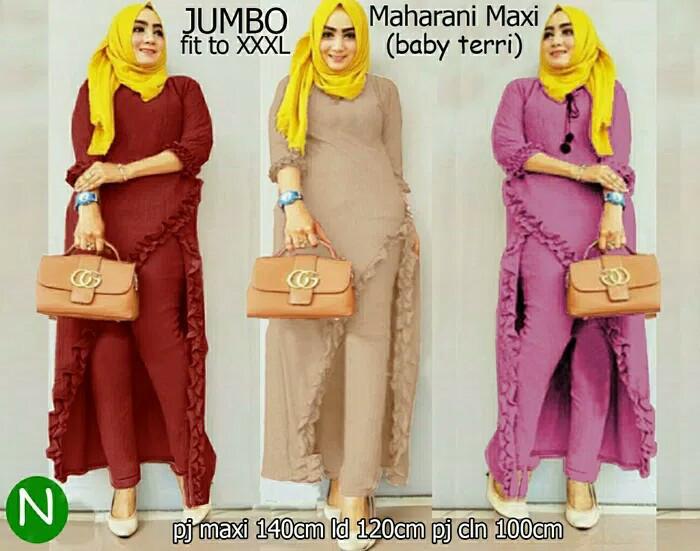 Foto Produk Baju muslim jumbo/Size XXXL/Big Size murah/Longdress/Gamis/set Maxi dari Fika Olshop Store