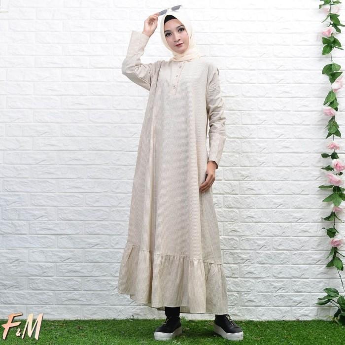 Jual Inaya Dress By Fm Gamis Polos Simple Ori Modern Modis Trendy