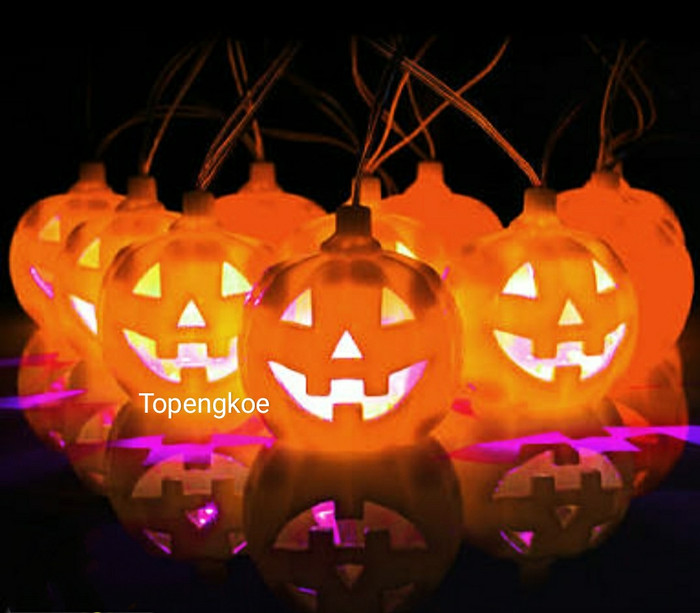 Jual Lampu Led Hias Dekorasi Halloween Pumpkin Jafa Accessories