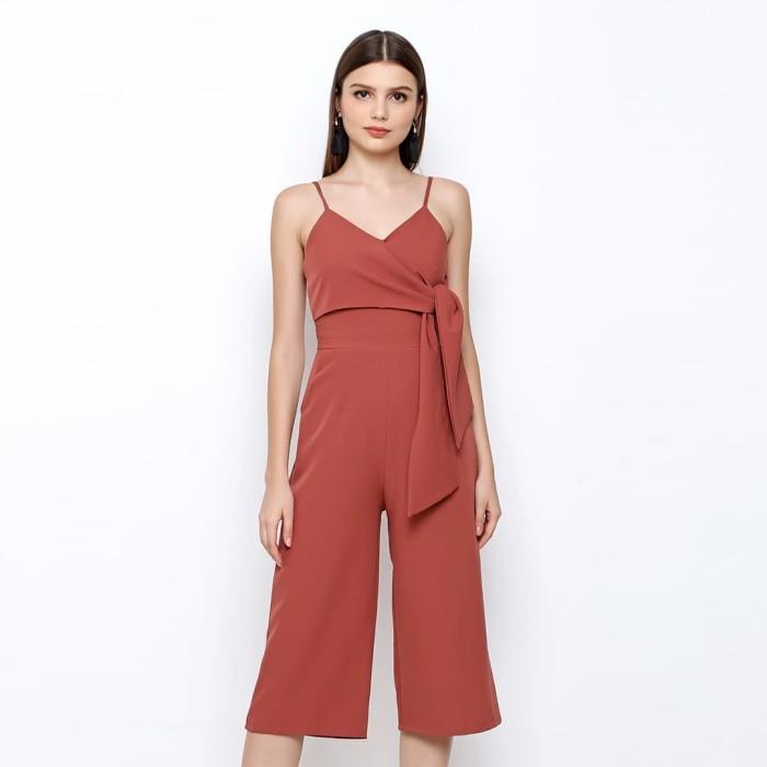 chocochips - biliza jumpsuit brick - merah salem l