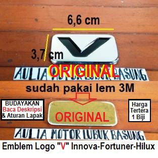 Jual Emblem Original Logo V Innova Fortuner Hilux 2005 S D 2013 Awal 1buah Kab Agam Aulia Motor Lubuk Basung Tokopedia