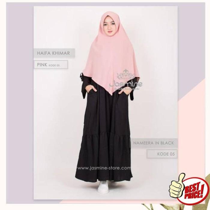 NAMEERA DRESS JASMINE - Hijab baju gamis polos busana muslim syar'i