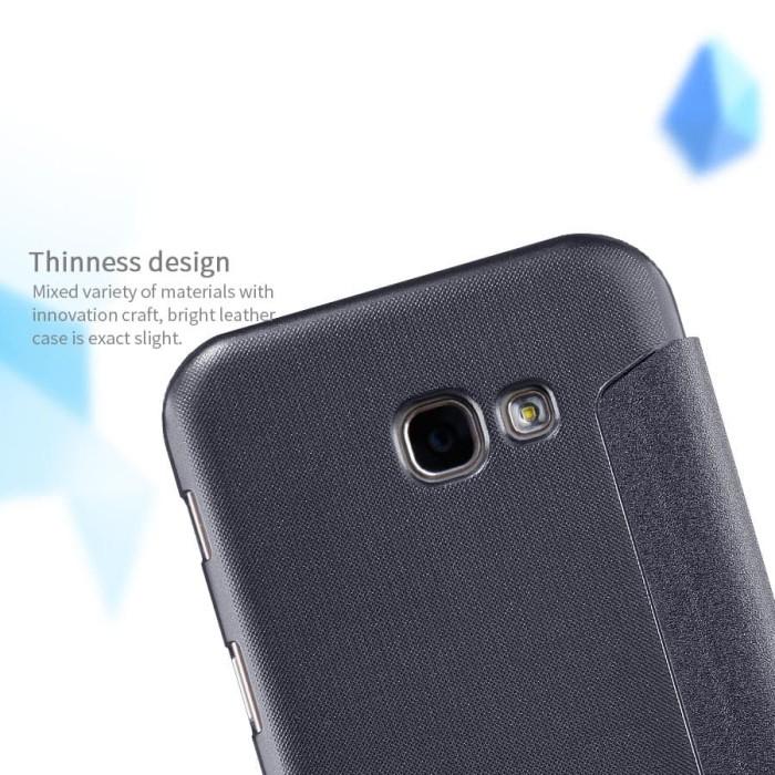 SAMSUNG Galaxy A7 2017 Flip Cover NILLKIN Sparkle Case - Hitam