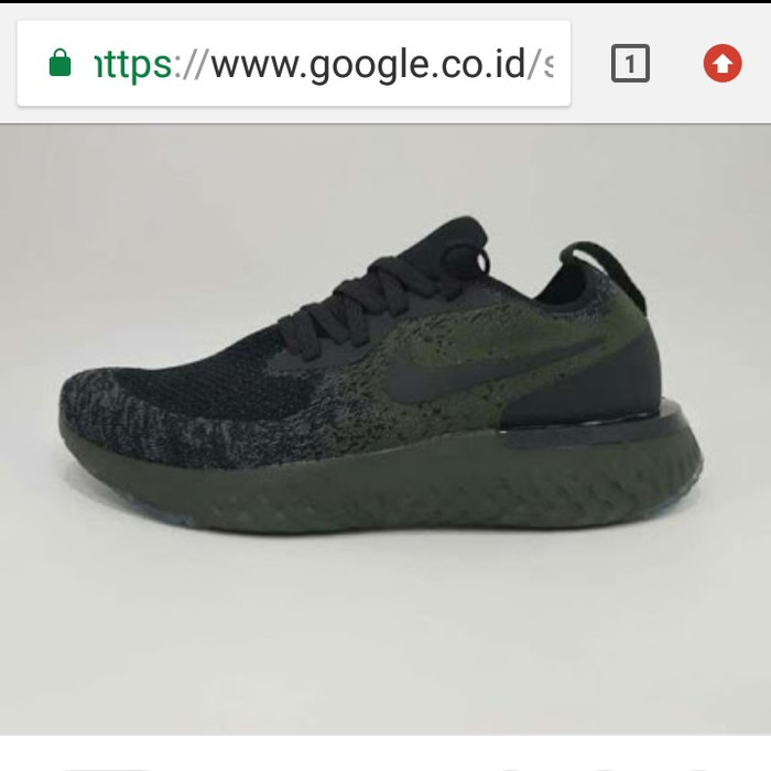 f42aa0f18b21 Jual Nike Epic React flyknit black army ORIGINAL PREMIUM - Hitam