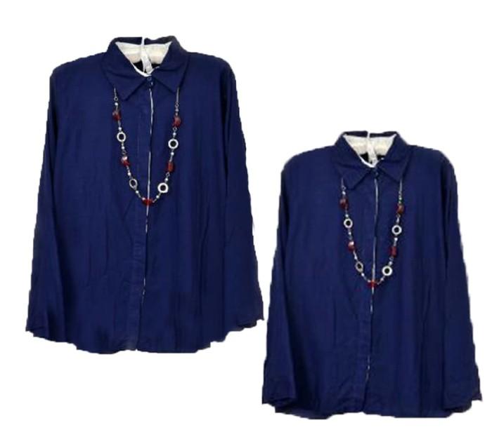 Blouse Luna Navy Lengan Panjang SW  blouse wanita rayon bangkok navy 219edb0e00