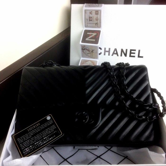 873dd326001c Jual Tas Chanel chevron Classic Flap 888 murah + box - Kota Batam ...