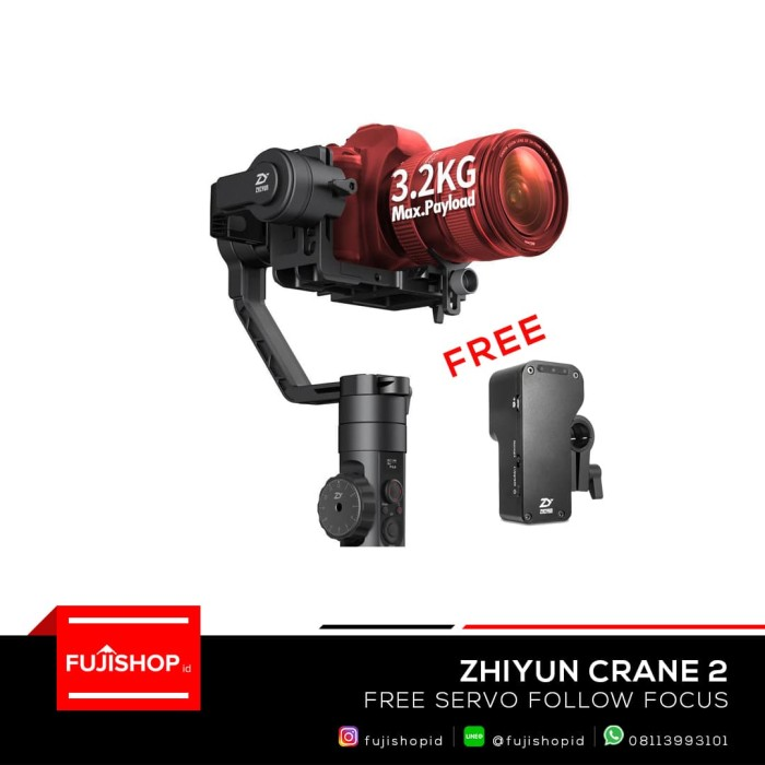 zhiyun tech crane 2 3-axis handheld gimbal for dslr camera